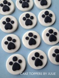 12 Paw Print Toppers by CakeToppersByJulie on Etsy, $12.00 ...
