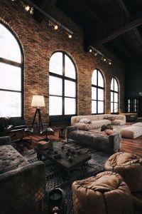 Best 25+ Industrial living rooms ideas on Pinterest