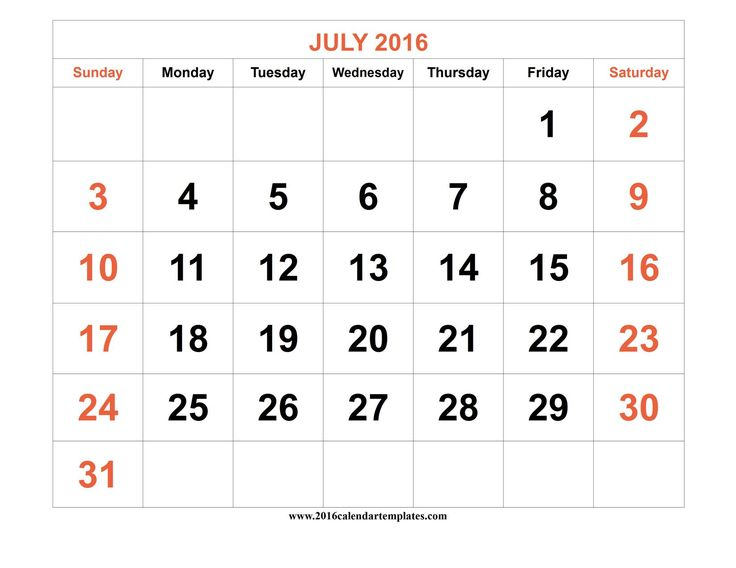 202 best images about July Calendar Printable Template on