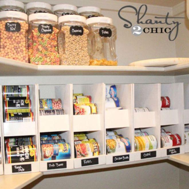 Diy canned food organizers diy storage pantry and storage