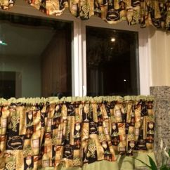 Valances For Kitchens Light Kitchen Cafe Curtains - Wine Theme | Eat-in ...