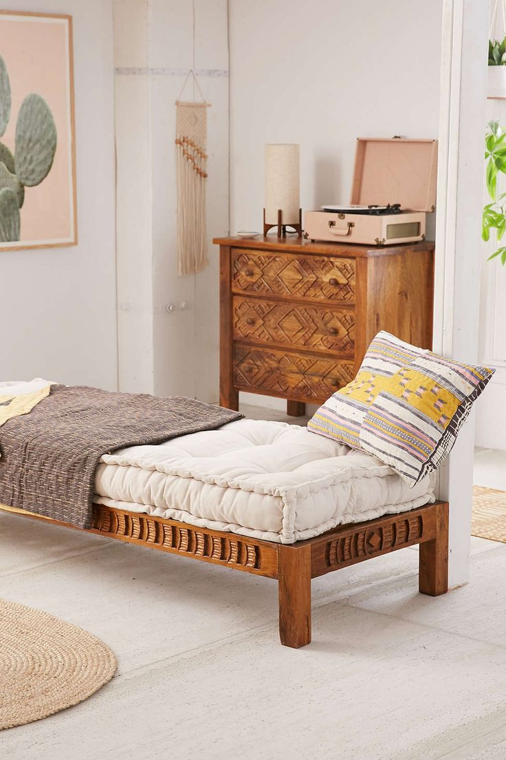 Amira Carved Wood Daybed Urban Outfitters Awesome And