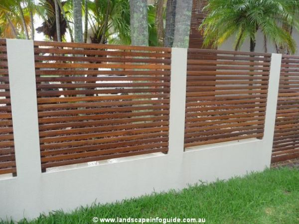 Fences Block Rendered Wall And Pillars With Horizontal