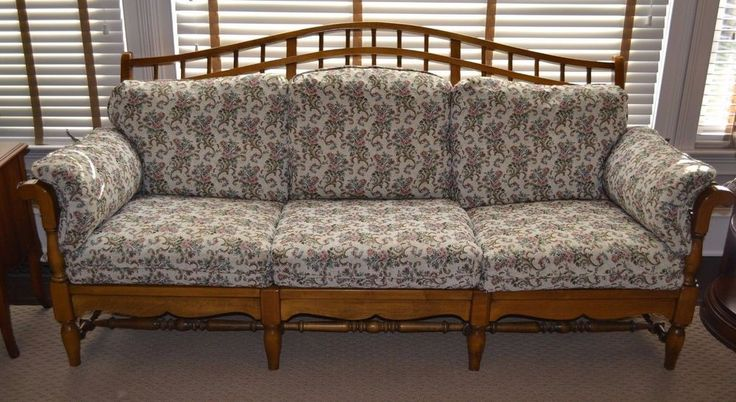 Ethan Allen Country French Windsor Sofa Couch Two Sets of