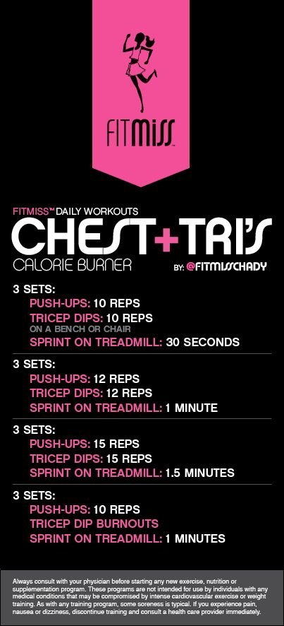 Bi Chest Tri Shoulder Circuit Workout Workouts Pinterest
