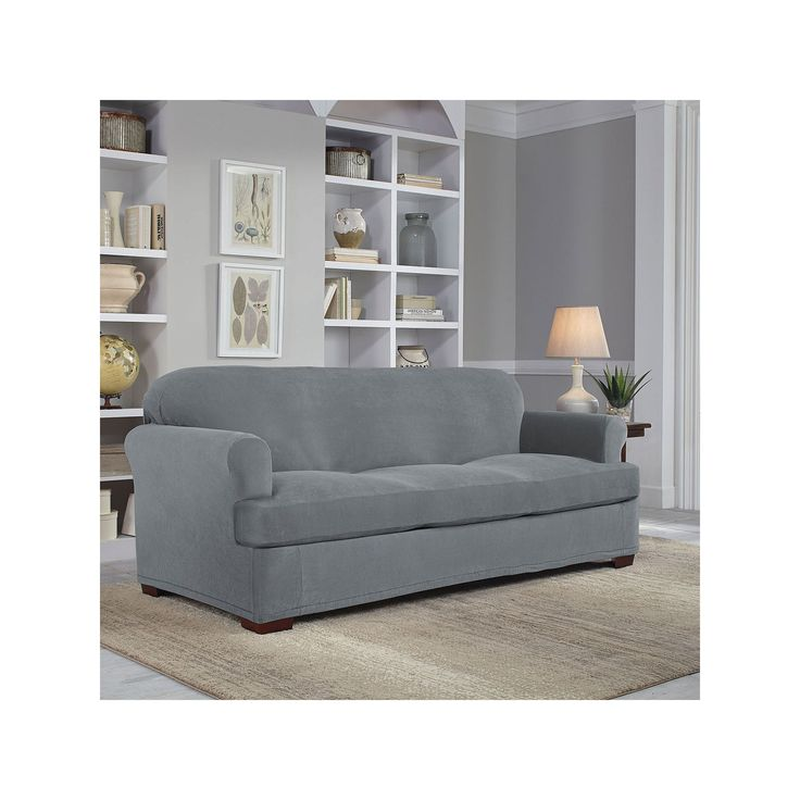 sure fit stretch stripe 2 piece sofa slipcover sand simple table design 25+ best ideas about slipcovers on pinterest   ...