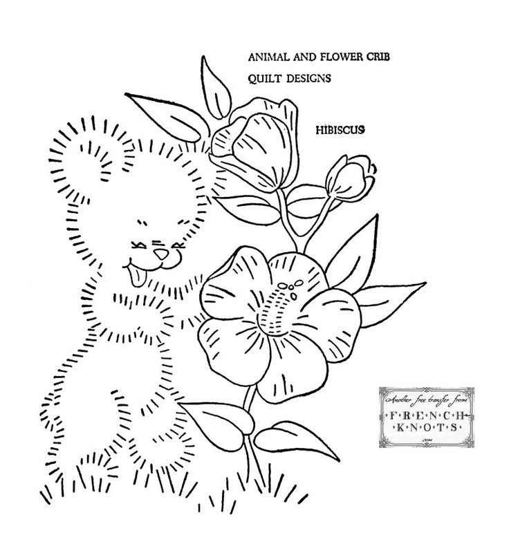 74 best images about Bear Embroidery Patterns on Pinterest