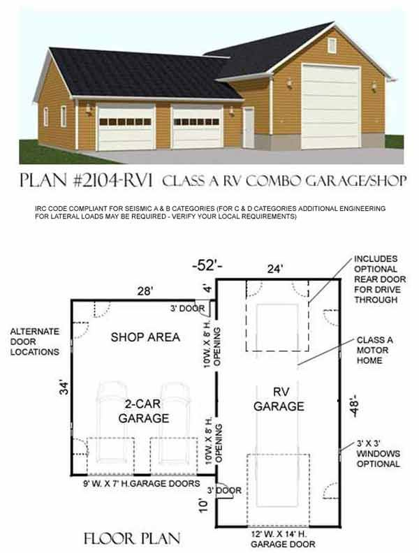 Detached Rv Garage Plans  WoodWorking Projects  Plans