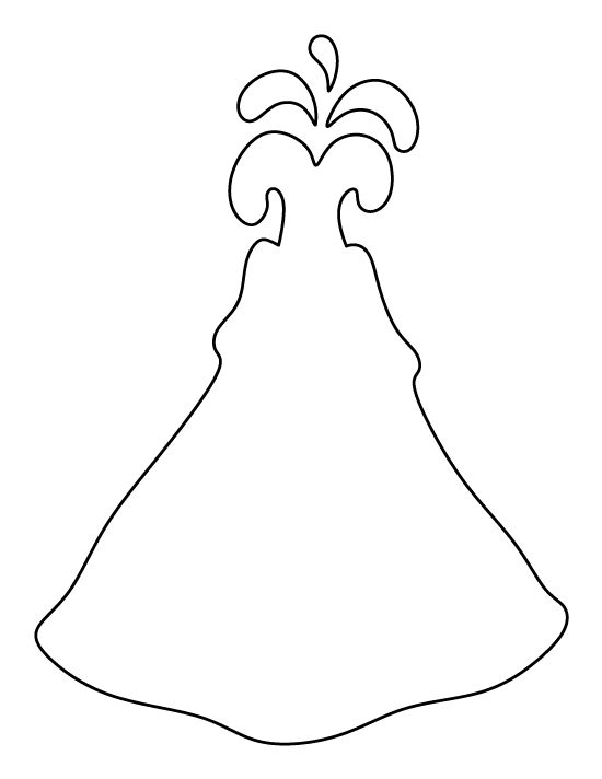Volcano pattern. Use the printable outline for crafts