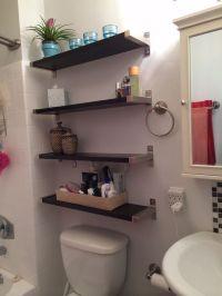 Small bathroom solutions - Ikea shelves | Bathroom ...