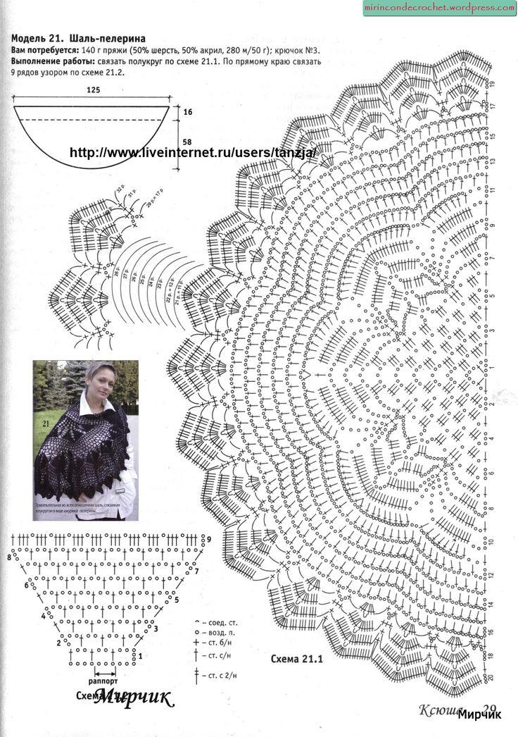 17 Best images about Chales y capas crochet on Pinterest
