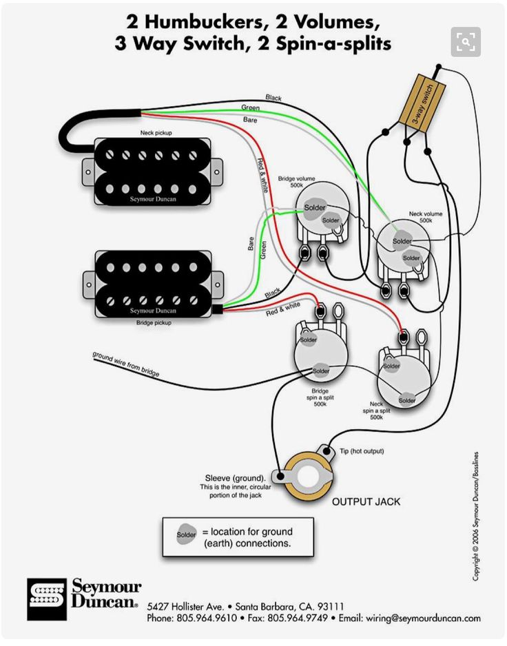 guitar wiring diagrams push pull