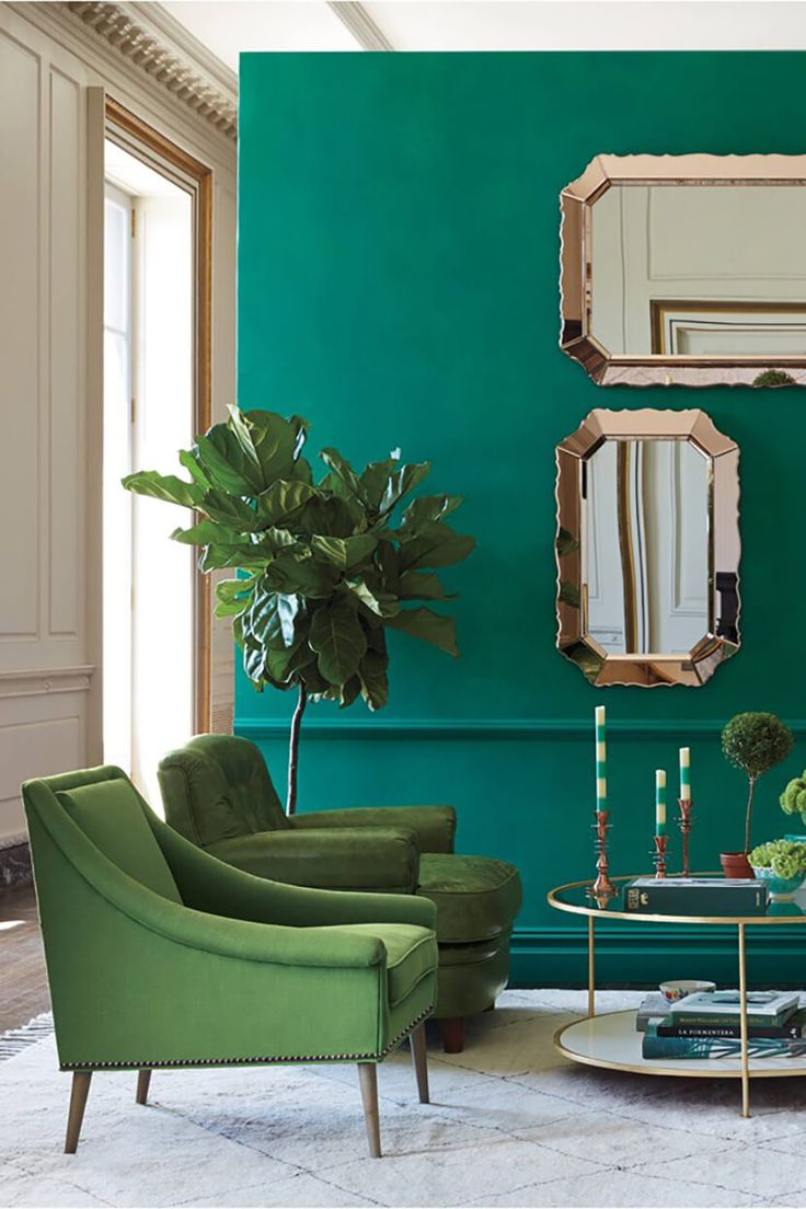 Color Clash Emerald And Teal Emily Henderson Trends