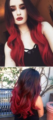 black and red ombre ideas