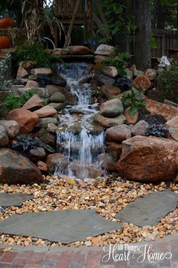 pond waterfall ideas
