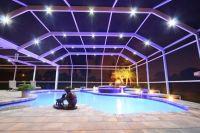 LED Swimming Pool Enclosure Lighting | Lanai lighting ...