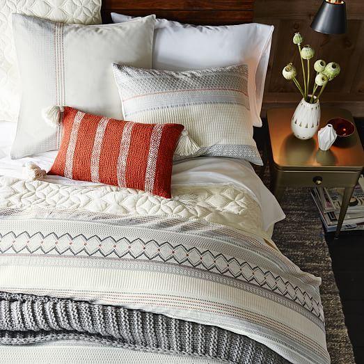 Organic Nordic Stripe Jacquard Duvet Cover  Shams  west