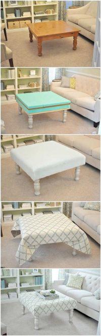 25+ best ideas about Upholstered ottoman on Pinterest ...