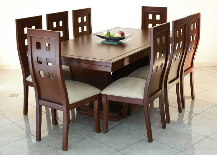 Comedor 6 sillas rectangular  DE MADERA Y ALGO MAS