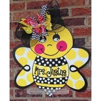 Personalized Bumble Bee Door Hanger Sign Housewares Home ...