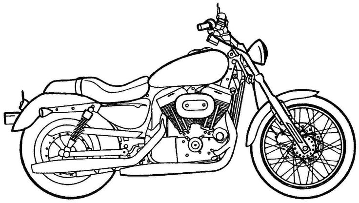 17 Best images about Motorcycles Coloring Pages on