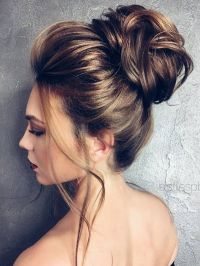 25+ best ideas about High bun hairstyles on Pinterest