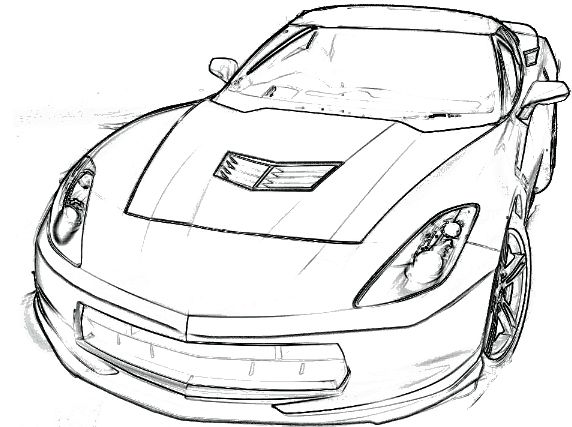 2014 Corvette C7 Stingray Clip Art