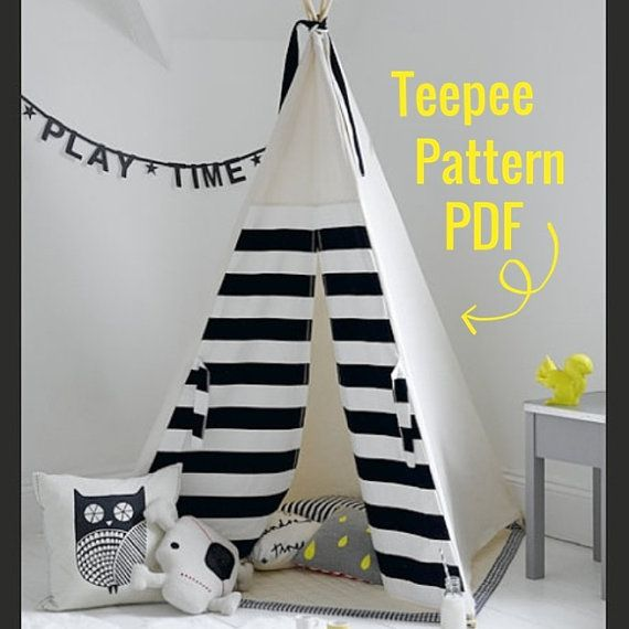 Teepee Pattern PDF Tipi Sewing Pattern Wigwam Toy