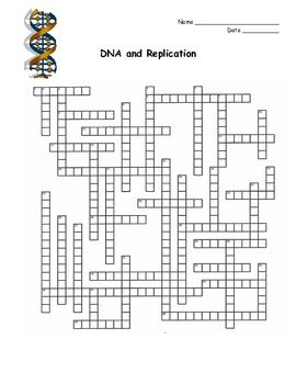 This is a crossword puzzle that covers the topic of DNA