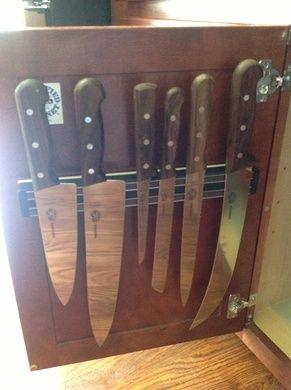 Under Cabinet Knife Holder