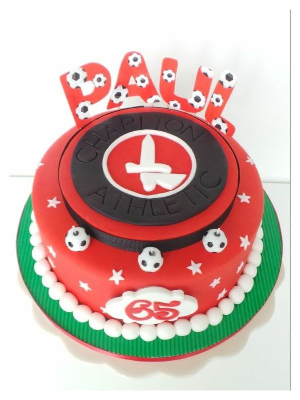 Charlton athletic football cake addicks Pinterest