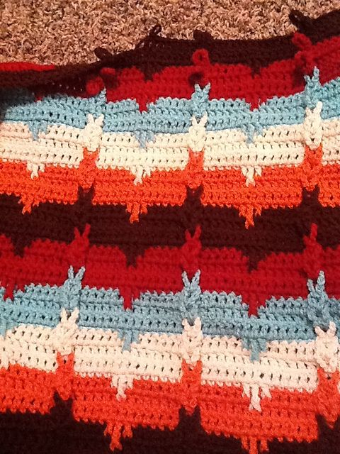 Southwestern Cable Afghan free pattern by Karen Wolfram