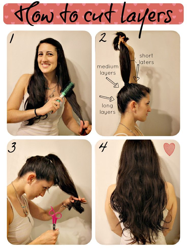 25 Best Ideas About Diy Haircut On Pinterest Simple Hair Updos