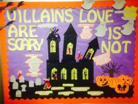 Villains are Scary, Love is Not Bulletin Board. A ...