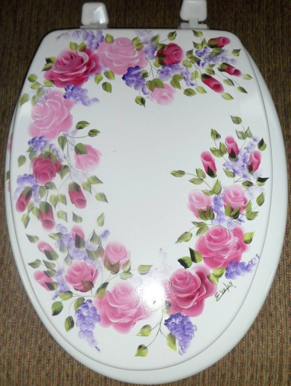 Shabby Chic Toilet seat cover The Shabby Chic me