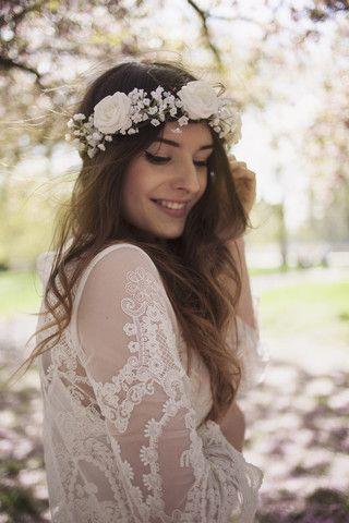 best 25 white flower crown ideas on pinterest
