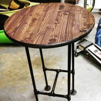 Dart room high top table is almost done. #diy # ...