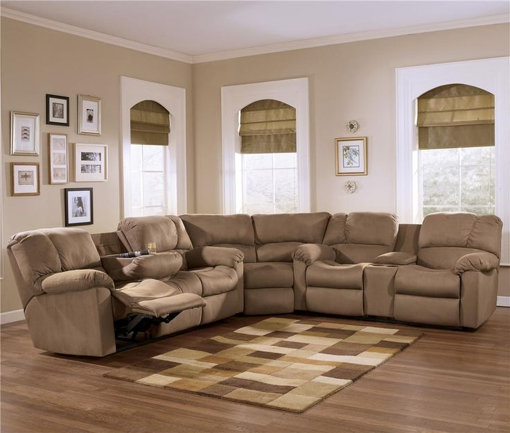 Eli Cocoa Reclining Sectional Sofa Group With Pillow
