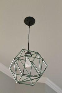 DIY Geometric Light Fixture | Home Decor | Pinterest | DIY ...