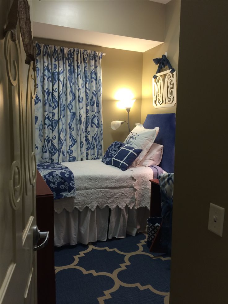 Village dorm at Auburn University  dorm rooms  Pinterest  Beautiful Initials and Navy ribbon