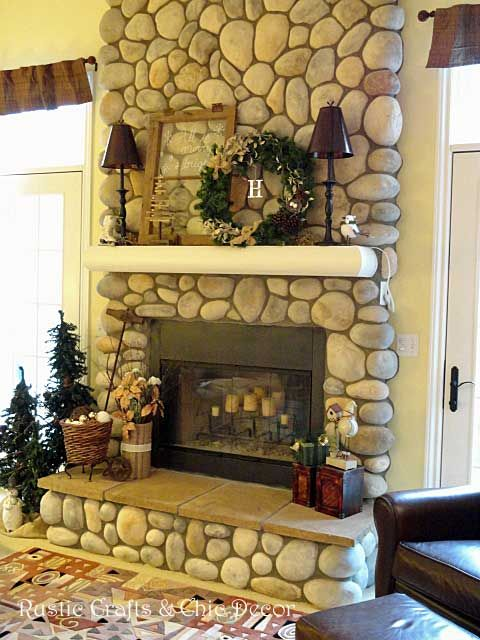 christmas fireplace by rusticcraftscom  DIY Home Decor Ideas  Pinterest  Beautiful