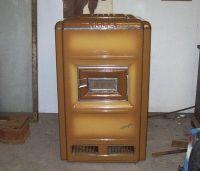 vintage art deco LEAR SIEGLER heater oil burning PORCELAIN ...