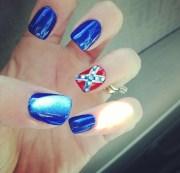 rebel flag nails mom