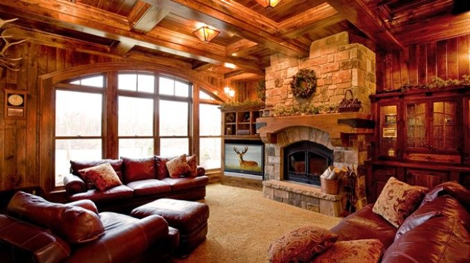 Rathskeller Retreat  Adirondack or Lodge Style Basement Ideas  Pinterest  Fireplaces Awesome