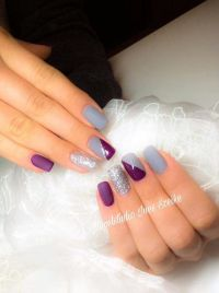 25+ best ideas about Purple gel nails on Pinterest