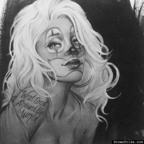 Sweet Chicano Clown Girl By Zindy On Deviantart Interiorhalloween Co