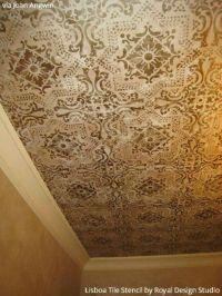 Unique Stenciled Ceiling Ideas Pictures | dream home
