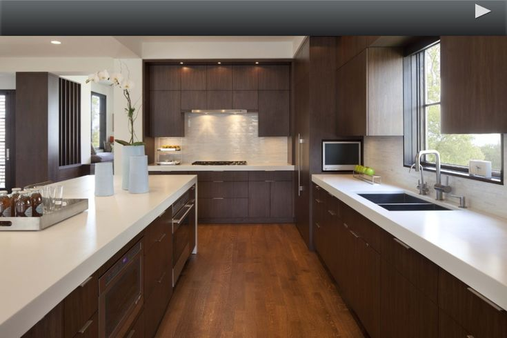 changing countertops in kitchen wood mode cabinets white quartz countertop with dark cabinets. modern. the ...