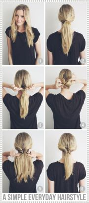 simple everyday hairstyle - passions