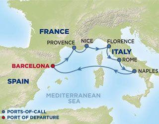 Mediterranean Cruise (different pla